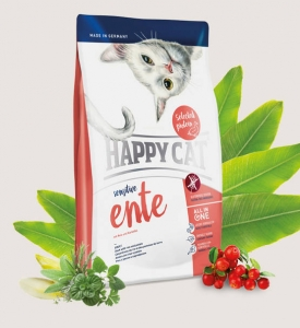 Happy cat sensitive Ente (kaczka) 4 kg