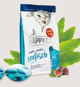 Happy cat sensitive Grainfree Seefisch (ryby morskie) 4 kg