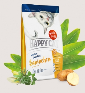 Happy cat sensitive Grainfree Kaninchen (królik) 4 kg